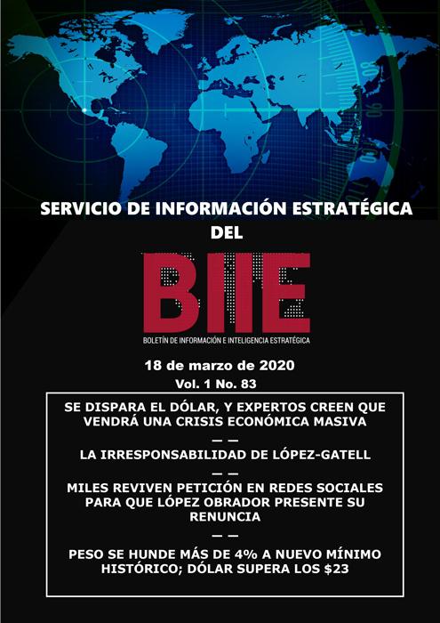 Servicio de Información Estratégica Vol.01 No.83 – 18 de Marzo de 2020