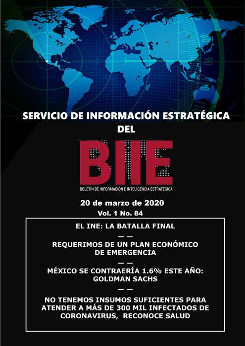 Servicio de Información Estratégica Vol.01 No.84 – 20 de Marzo de 2020