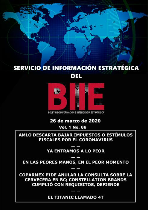 Servicio de Información Estratégica Vol.01 No.86 – 26 de Marzo de 2020
