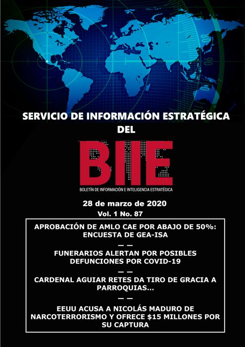 Servicio de Información Estratégica Vol.01 No.87 – 28 de Marzo de 2020