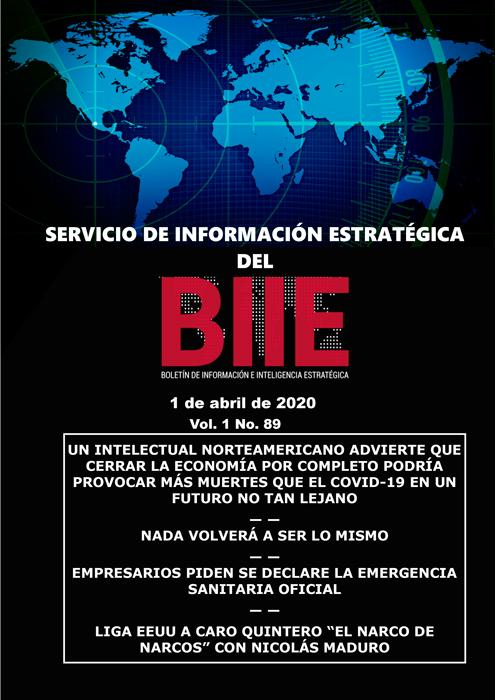 Servicio de Información Estratégica Vol.01 No.89 – 01 de Abril de 2020