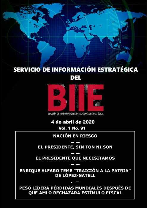Servicio de Información Estratégica Vol.01 No.91 – 04 de Abril de 2020