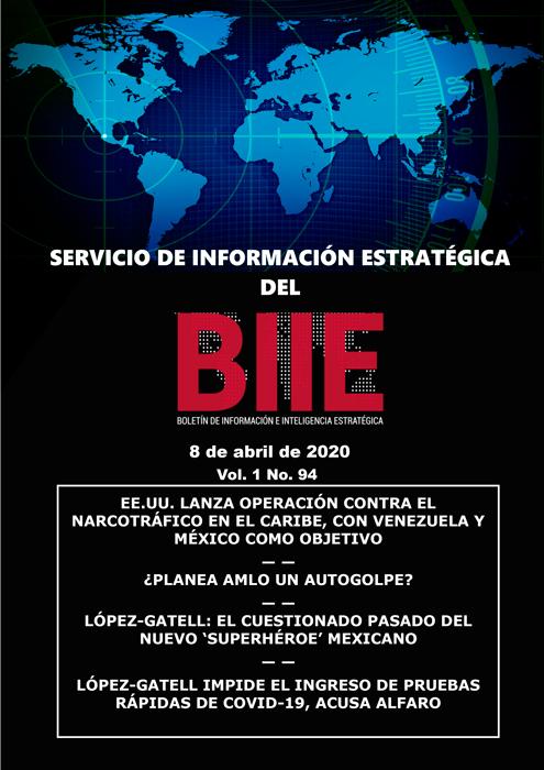 Servicio de Información Estratégica Vol.01 No.94 – 08 de Abril de 2020