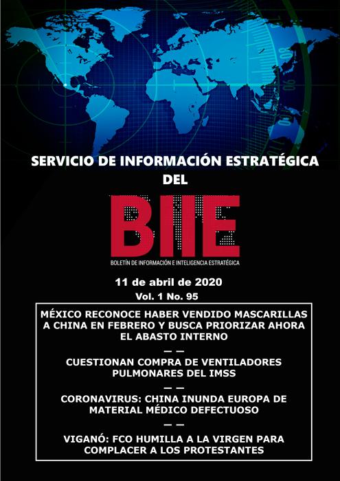 Servicio de Información Estratégica Vol.01 No.95 - 11 de Abril de 2020