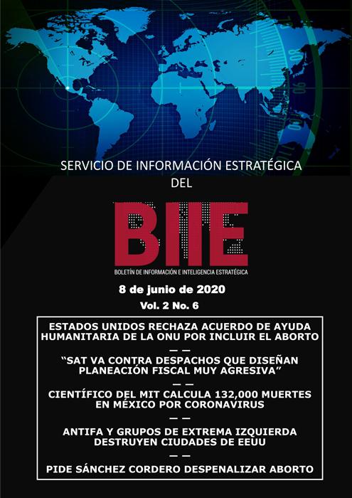 Servicio de Información Estratégica Vol.02 No.06 – 08 de Junio de 2020