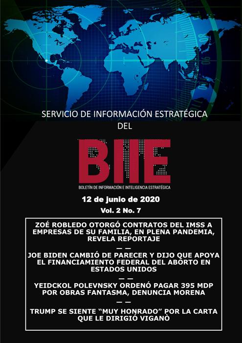 Servicio de Información Estratégica Vol.02 No.07 – 12 de Junio de 2020