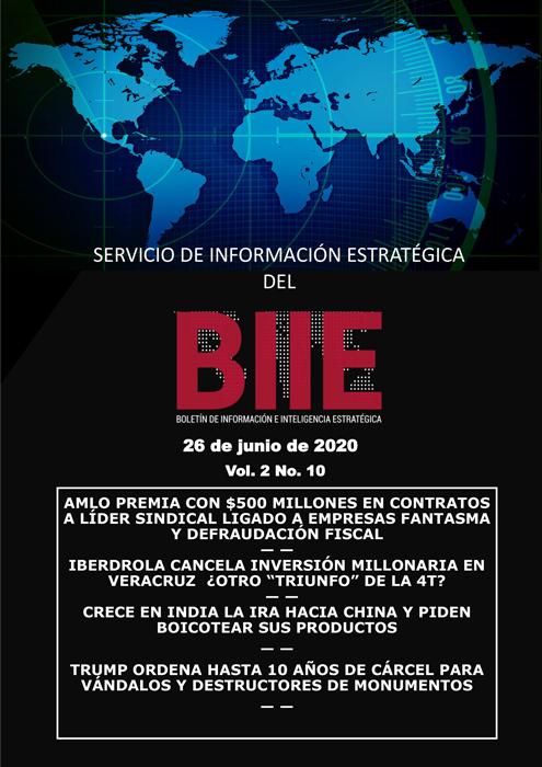 Servicio de Información Estratégica Vol.02 No.10 – 26 de Junio de 2020
