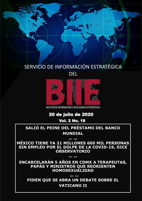 Servicio de Información Estratégica Vol.02 No.18 - 20 de Julio de 2020