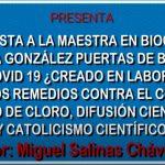 Entrevista a la Mtra. en Bioquímica Cecilia González de Bolivia sobre COVID-19, sus remedios reales