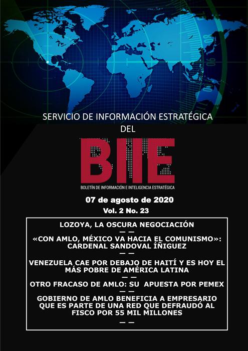 Servicio de Información Estratégica Vol.02 No.23 - 07 de Agosto de 2020