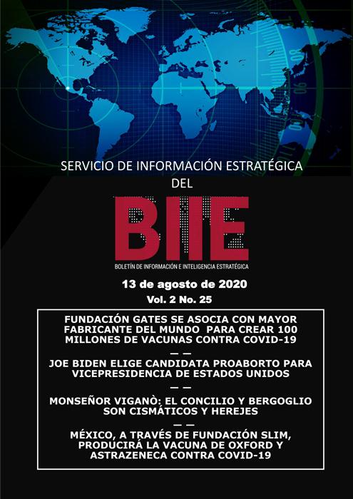 Servicio de Información Estratégica Vol.02 No.25 - 13 de Agosto de 2020