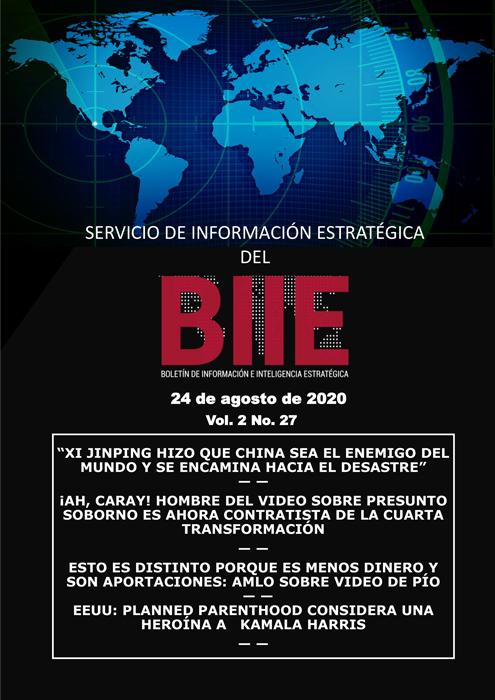 Servicio de Información Estratégica Vol.02 No.27 - 24 de Agosto de 2020