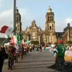 Marcha patriótica en el Campamento de FRENAAA
