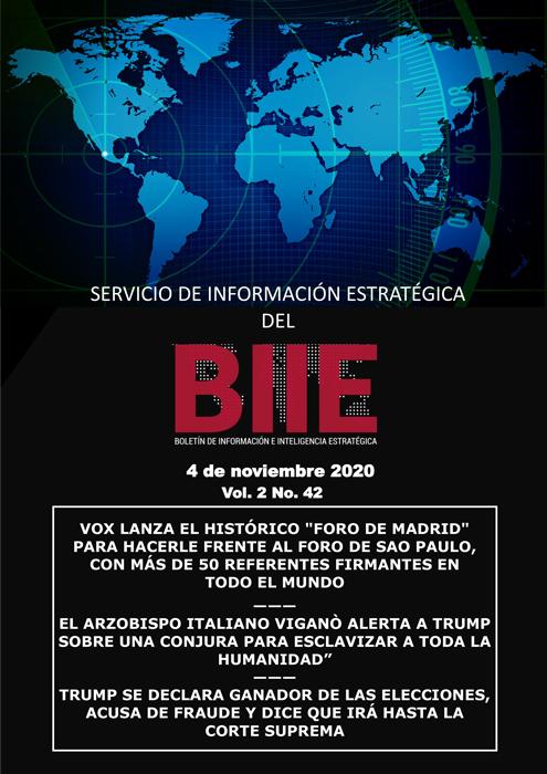 Servicio de Información Estratégica Vol.02 No.42 - 04 de Noviembre de 2020