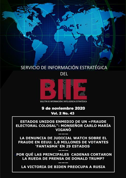 Servicio de Información Estratégica Vol.02 No.43 - 09 de Noviembre de 2020