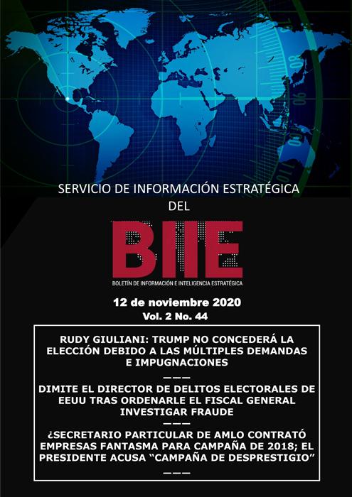 Servicio de Información Estratégica Vol.02 No.44 - 12 de Noviembre de 2020